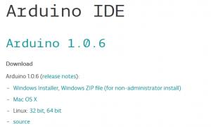 Arduino IDEダウンロード画面